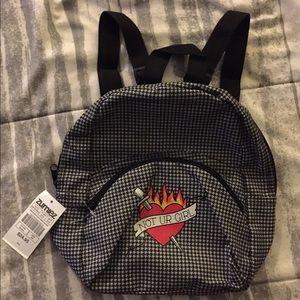 Houndstooth Print Mini Backpack ❤️